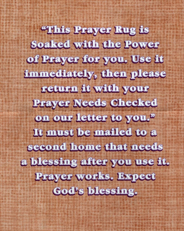 This Rug is soaked in Prayer Power®