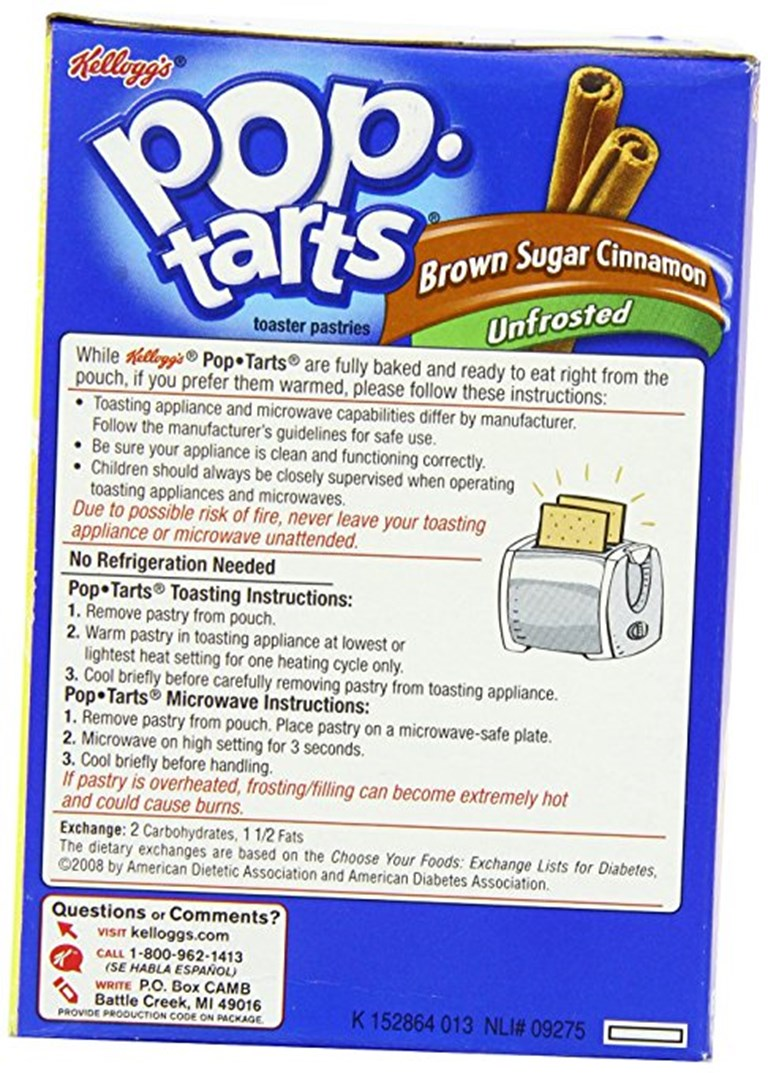 Pop Tart Instructions