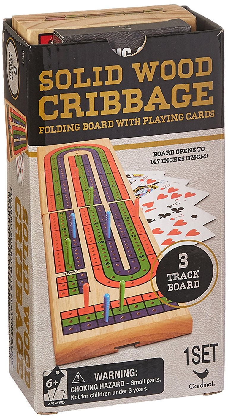 Cardinal Industries Solid Wood Folding Cribbage Set