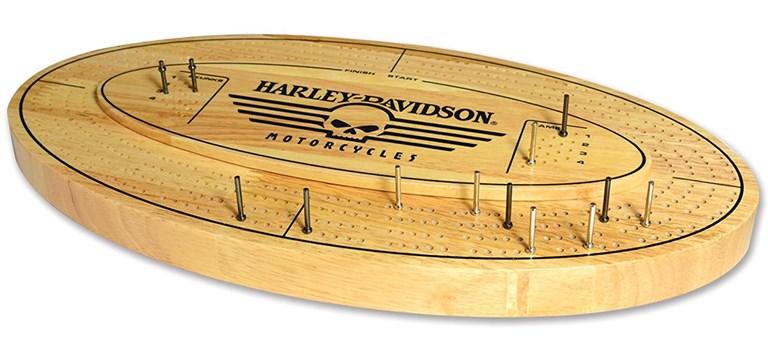 Harley-Davidson Skull Cribbage Board