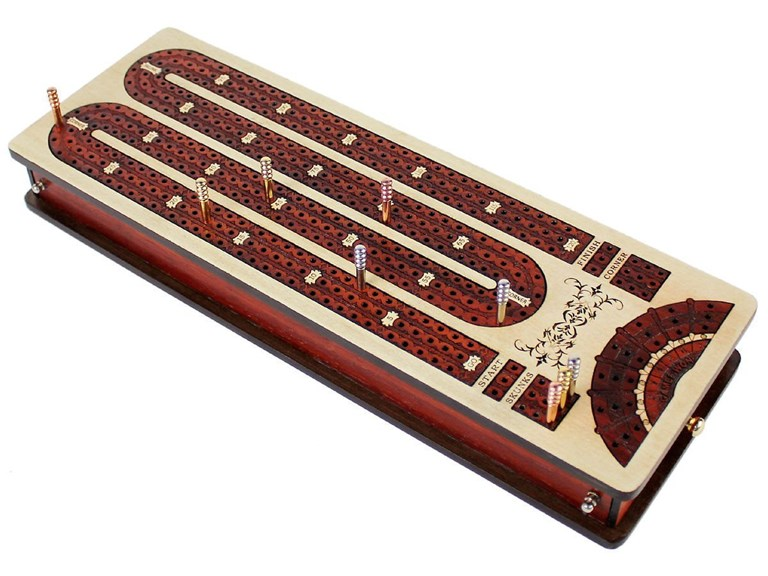 House of Cribbage - 3 Track Continuous Curved Design Cribbage Board