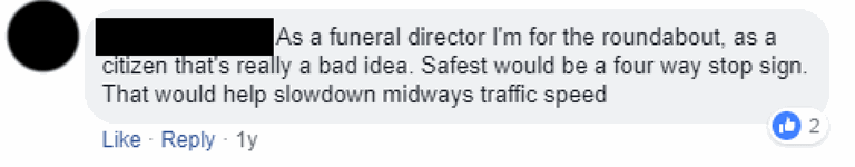 A Funeral Director on Roundabouts.